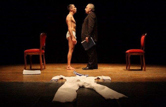 Massimo Verdastro e Giuliano Sangiorgio in Sandro Penna, una quieta follia a Il Lavoratorio