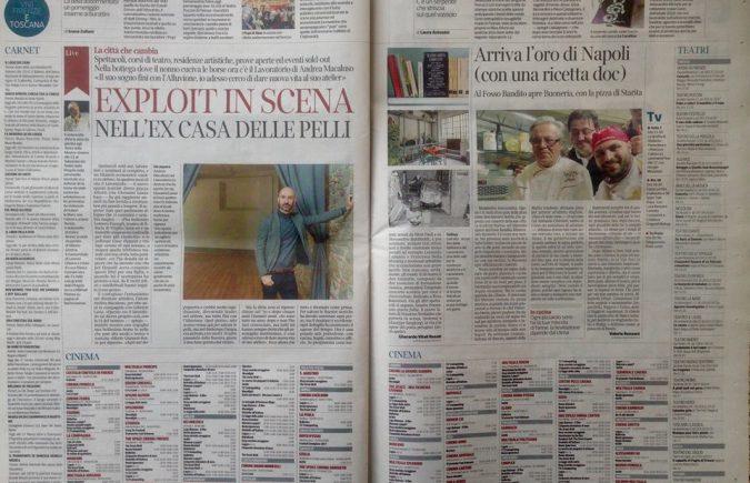 Articolo Il Corriere fiorentino su Il Lavoratorio